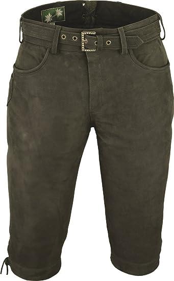 on wholesale sells unique design Fuente Pantalon de Chasse Homme Cuir avec Ceinture - Lederhosen- Pantalon  en Cuir-Oktoberfest Costume Homme Femme -3 4 Pantalon Cuir- Lederhosen ...