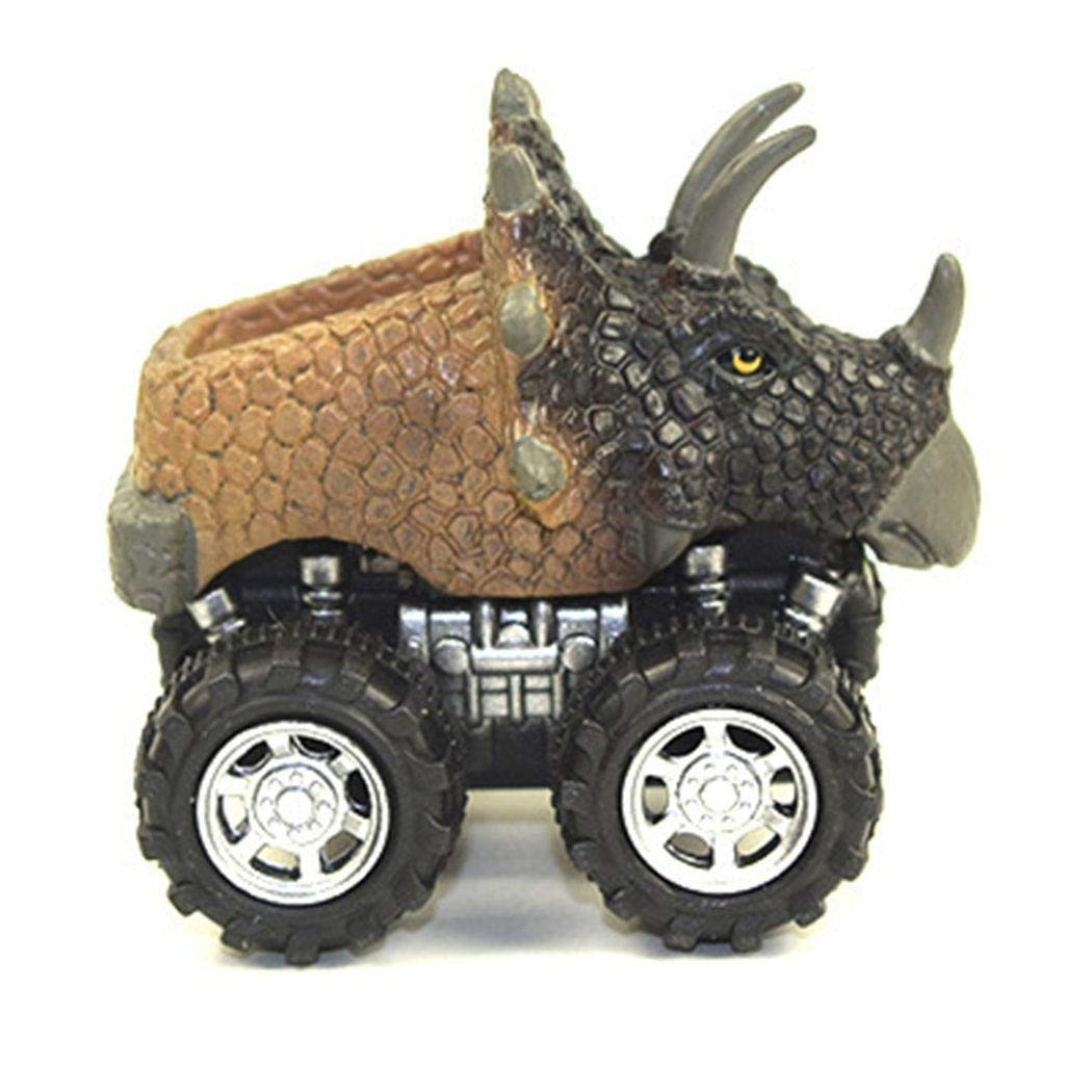 Aelove 1Pcs Animals Dinosaur Cars Pull Back Car Kids Fun Toys Boys Gifts Die-Cast Vehicles