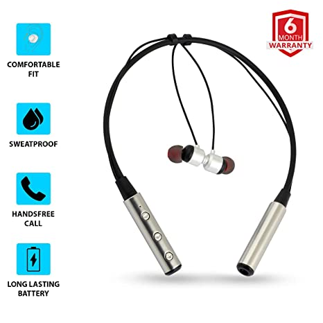 Coku CKUV40BT Sports Magnetic Stereo Sound Neckband Wireless Bluetooth Earphones with Mic for All Smartphones
