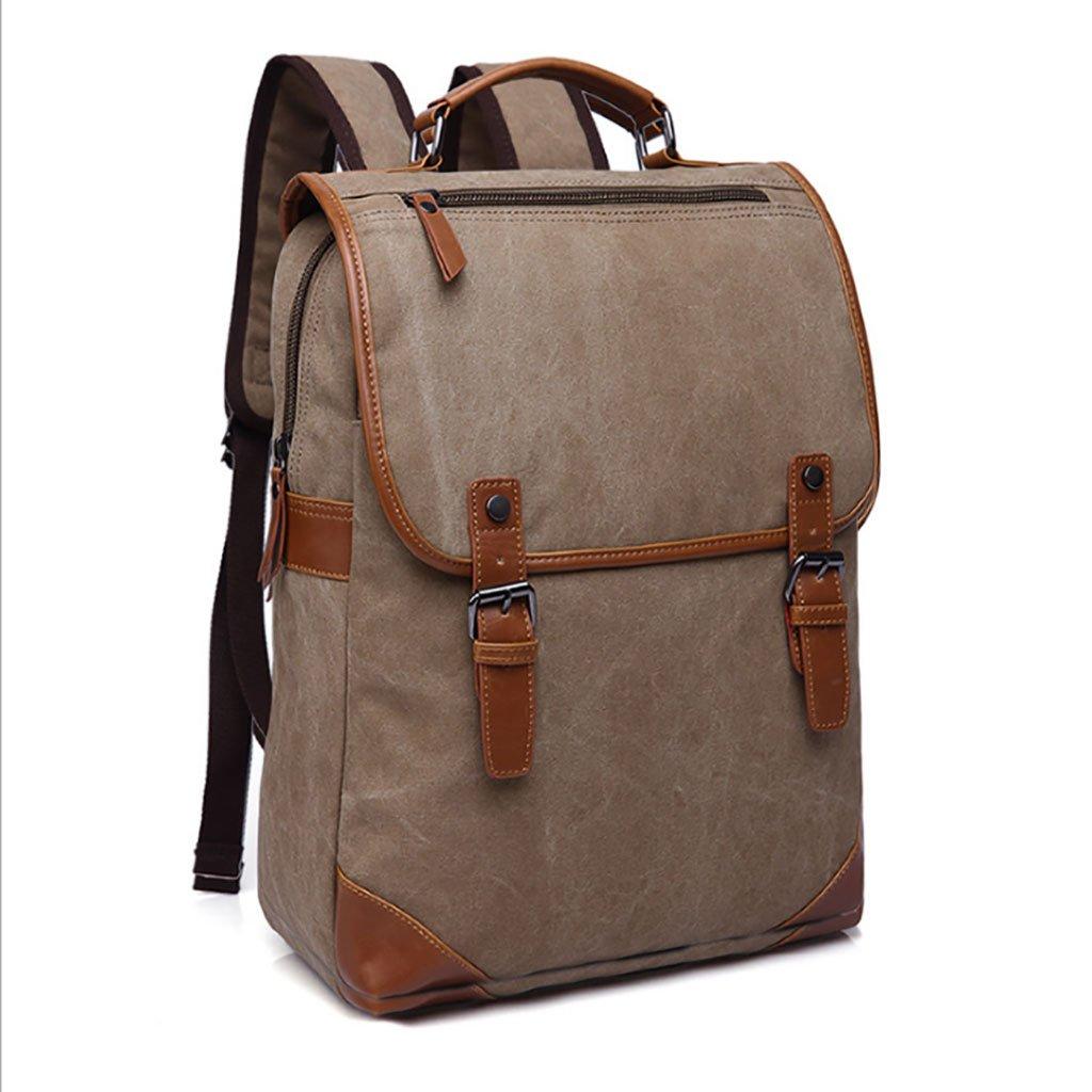 Lcllxb Canvas Backpack, Boys and Girls, School Bags, Canvas, Outdoor Shoulder Bag, Laptop Backpack, Retro, Pure color Business, Leisure, Simple Sports Travel Bag, Shoulder Bag Handbag.