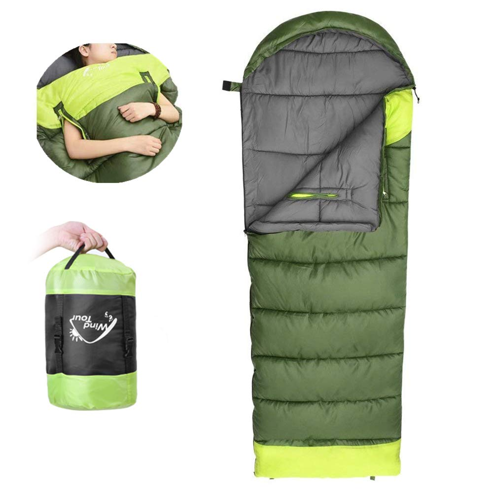 NACATIN Sleeping Bag for Adult, Sleeping Bags Ultralight with Compression Sack, Hand Free, -10 to 15 Comfort for 3 Seasons Backpacking Hiking Camping