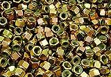 (100) Nyloc Grade 8/C Hex Locking Nuts 1/2-13 Yellow Zinc Plated Nylock
