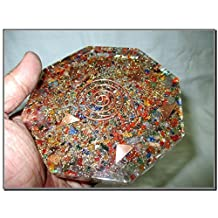 Mix Gemstone Orgone Octagon Vastu Plate Energy Generator Crystal Gemstones Unique Rare Science Construction Vedic Astrology Wealth Health Cosmic Intelligence Five Elements Copper Metal Mix Rare Healing Positive Energy Tetrahedron Sacred Feng Shui Geometry Memory Concentration Meditation Spiritual Psychic Piezo Electric Effect Business Prosperity Success Destress Anxiety Disorder Love Power Mental Peace Strength Divine X-mas Mother's Day