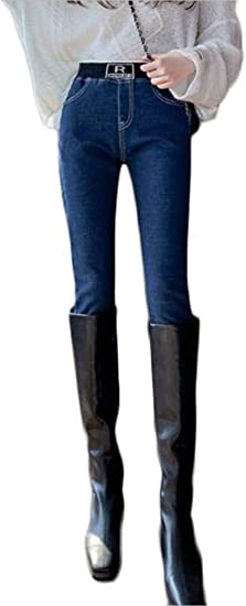 [フ二ンー] 裏起毛 防寒 デニム スキニー パンツ カジュアル 防風 スリム フィット ジーンズ レディース テーパードパンツ ハーレムパンツ 厚手 スリム