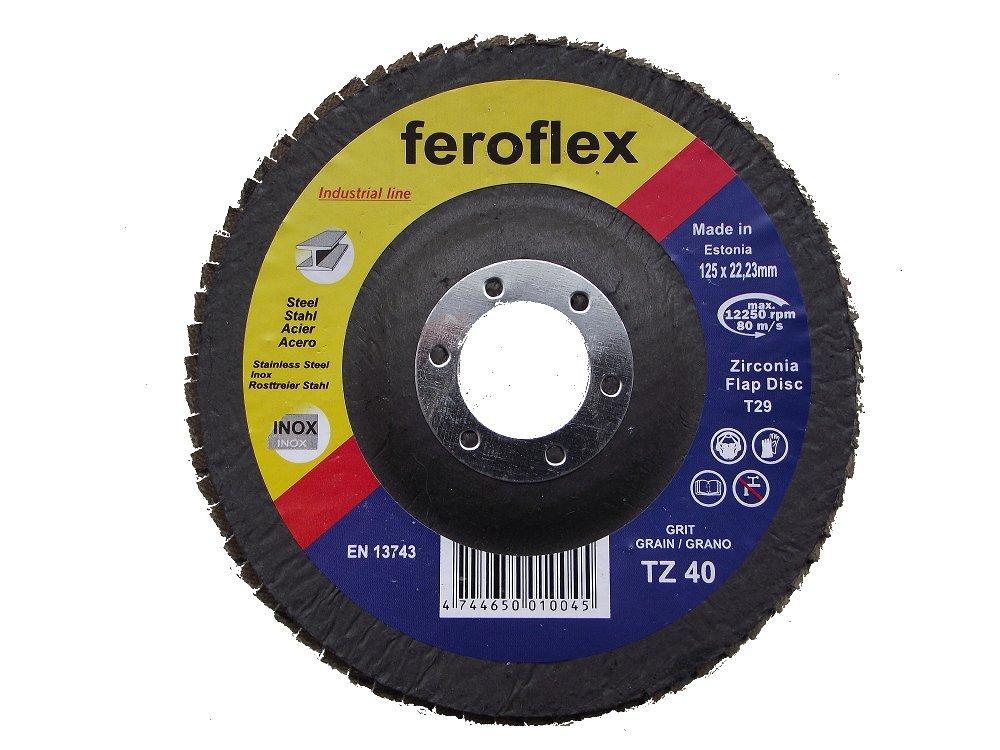 125 mm, grano 120 20 unidades Disco de l/áminas Feroflex