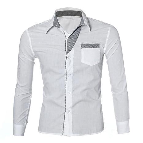 Camisas hombre Camisa de manga larga del otoño de los ...