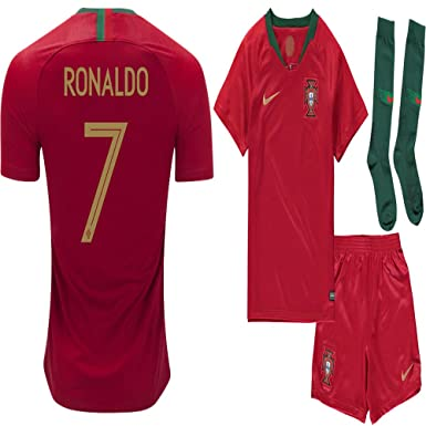 low priced fc20a 450f6 World Cup 2018 Portugal C. Ronaldo Home Jersey Kit : Shirt, Short, Socks