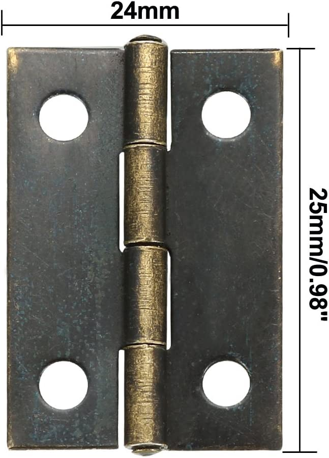 sourcing map 10 Stk Antike Bronze Sto/ßscharniere Mini Scharnier Ersatz mit Schrauben 0,98 DE de