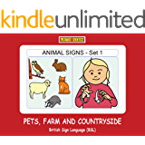 ANIMAL SIGNS (Set 1)  PETS, FARM and COUNTRYSIDE: British Sign Language (BSL) (LET'S SIGN)