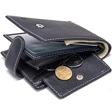 GHC Billetera y monedero Monedero de cuero para hombres ...