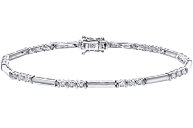 Naava Women's 9 ct White Gold 5 ct Diamond Bracelet tS04z