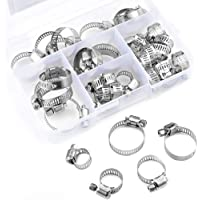 17mm - 32mm 10 Pack Breeze 9212 Aero-Seal Liner Clamps with Plated Screw Effective Diameter Range 11//16-1-1//4
