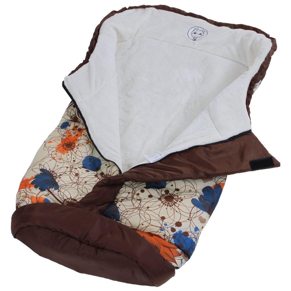 Infantastic Saco de abrigo universal, diseño Happy Flower (120 x 50 cm) | Saco portabebés de poliéster