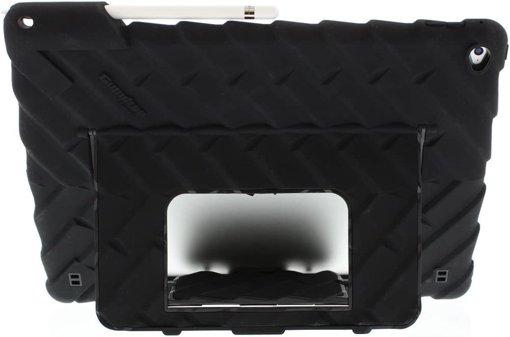 Black Extreme Drop Protection 1st and 2nd Gen Teachers Shock Absorbing Rugged Tablet for K-12 Students Gumdrop Hideaway Case with Multi-Angle Stand for Apple iPad Pro 12.9 Kids