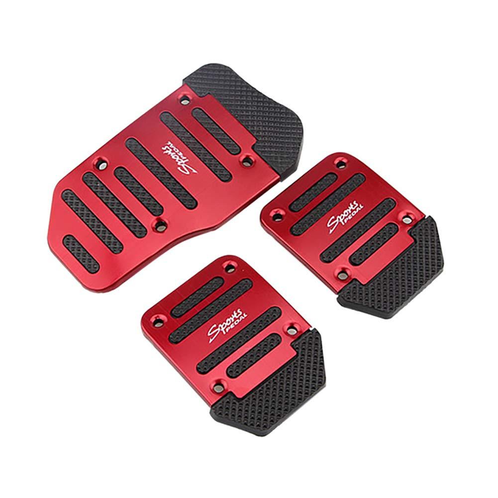 MOMEY Car Non-Slip Brake Foot Pedals Aluminum Accelerator Brake Pedal Cover Mannual Auto