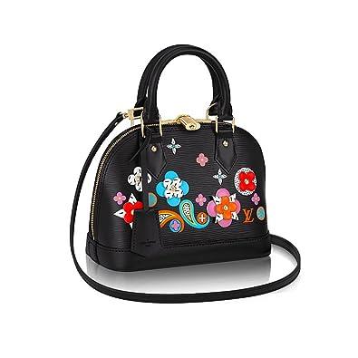 fa3f38a356a5 Louis Vuitton Epi Leather Cross Body Handbag Alma BB Noir Article  M54836  Made in France  Handbags  Amazon.com