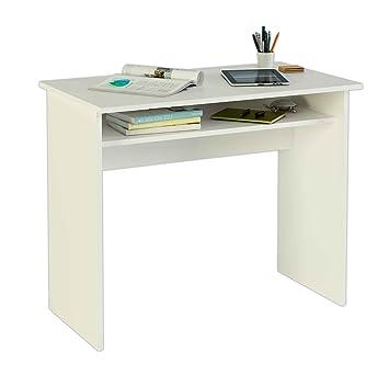 Kleiner Wei Er Schreibtisch , Meka Block K 9465b Schreibtisch 90 Cm Breit Farbe Weiß Amazon