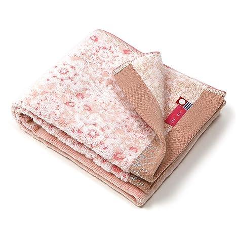 Toalla de cara toalla de ganchillo Iori imabari Japón, algodón, beige, 34x80cm