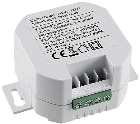 SmartHome Funk-Empfänger 1-Kanal universal einsetzbar LED bis 300 Watt