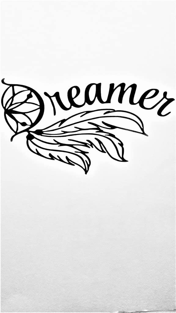 "Chase Grace Studio Dream Catcher Dreamer Vinyl Decal Sticker|BLACK| Cars Trucks Vans SUV Laptops Wall Art|7"" X 4""