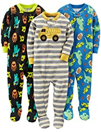 Boys' 3-Pack Snug-Fit Footed Cotton Pajamas