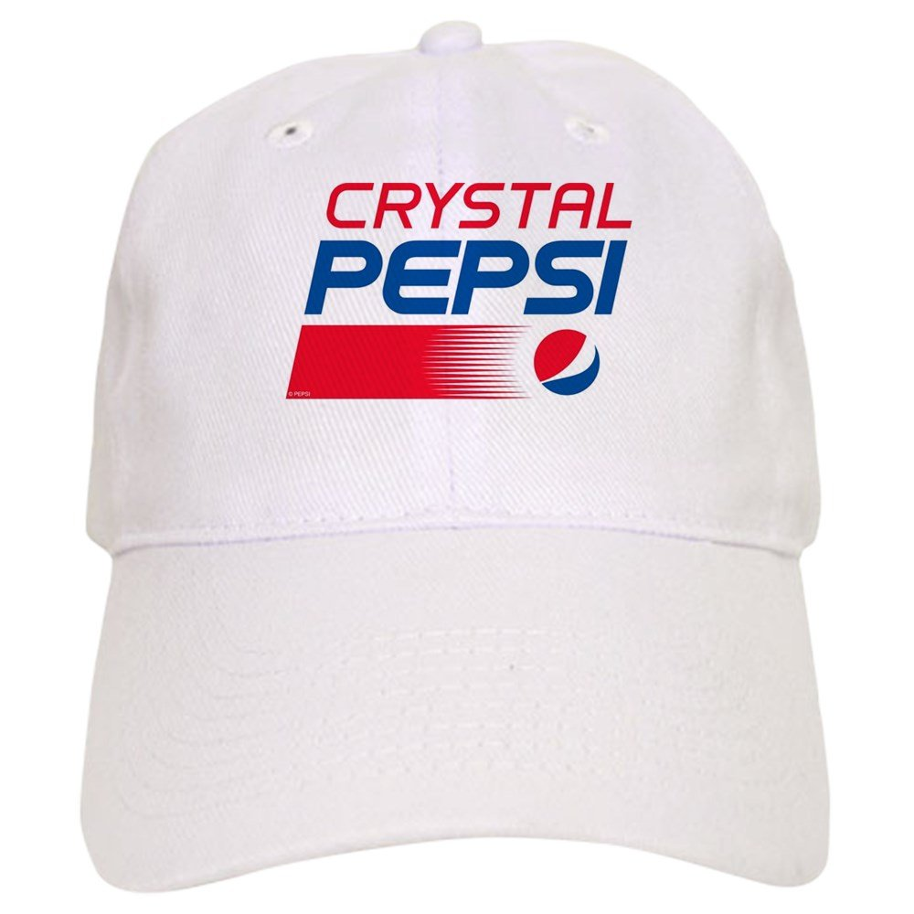 6053bf710d99d Amazon.com  CafePress - Crystal Pepsi Logo - Baseball Cap with Adjustable  Closure
