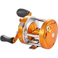 Isafish Baitcasting Reels Conventional Inshore Offshore Saltwater Freshwater Fishing Reels Baitcaster Golden Color