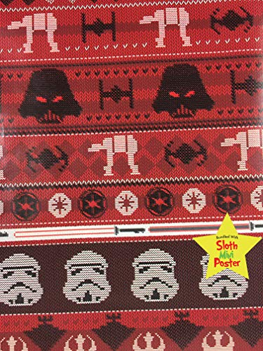 Star Wars Ugly Christmas Sweater Gift Wrapping Paper -40 Square Feet 1 -