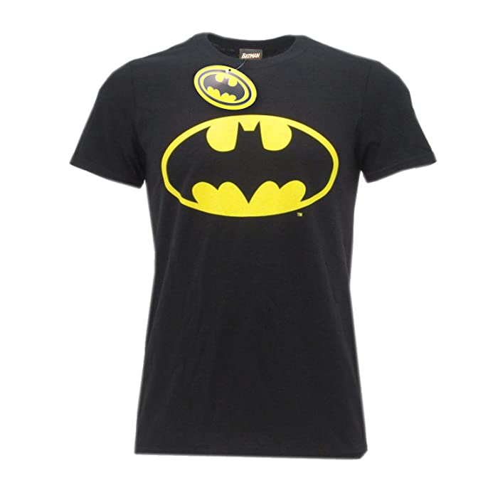 04cf2762a9025a T-Shirt Logo Batman Super Eroe DC Comics Maglia Maglietta - Ufficiale  Originale Warner Bros