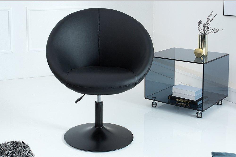 Design Drehsessel COUTURE schwarz höhenverstellbar im Loungedesign ...