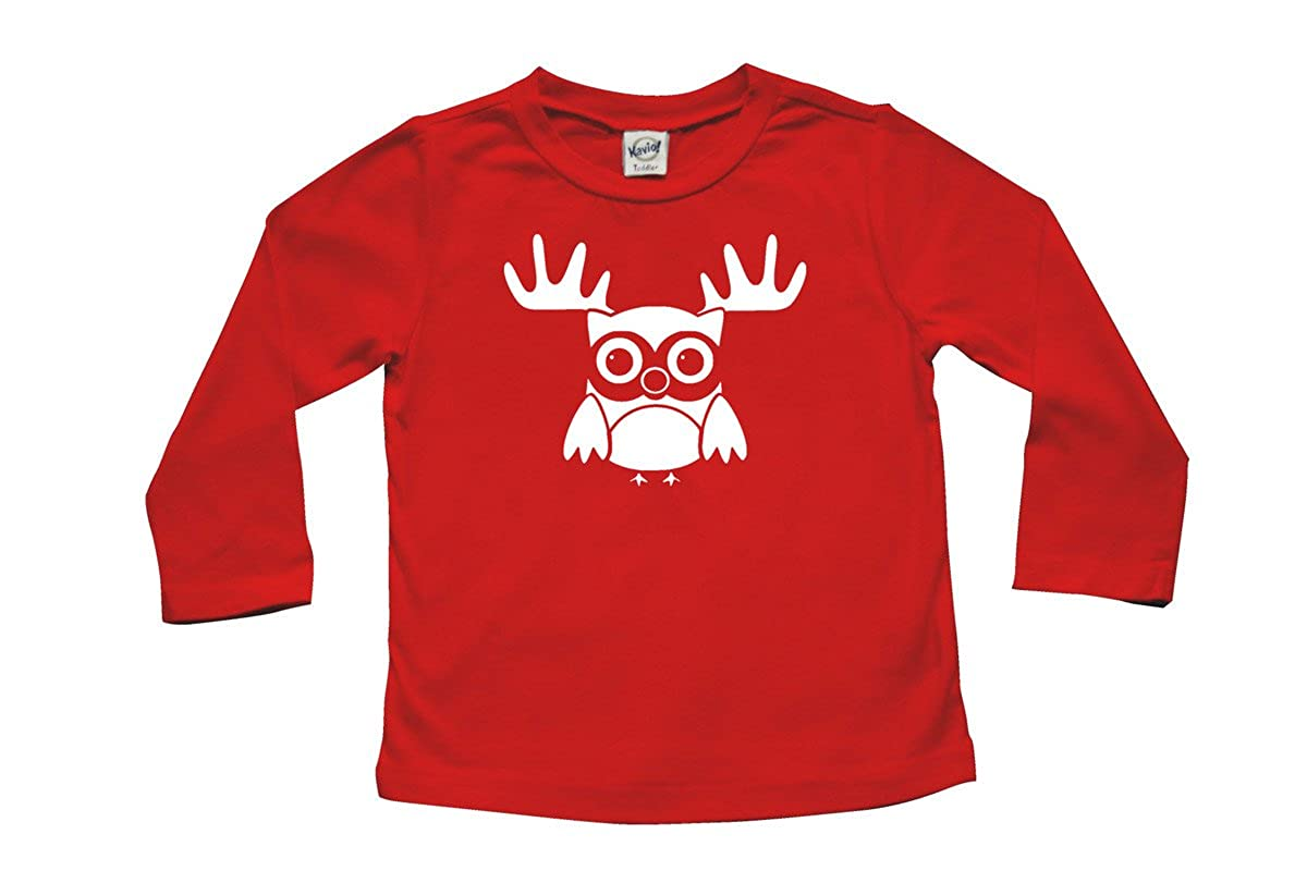 Christmas Baby /& Toddler Long Sleeve T-shirt Reindeer Owl