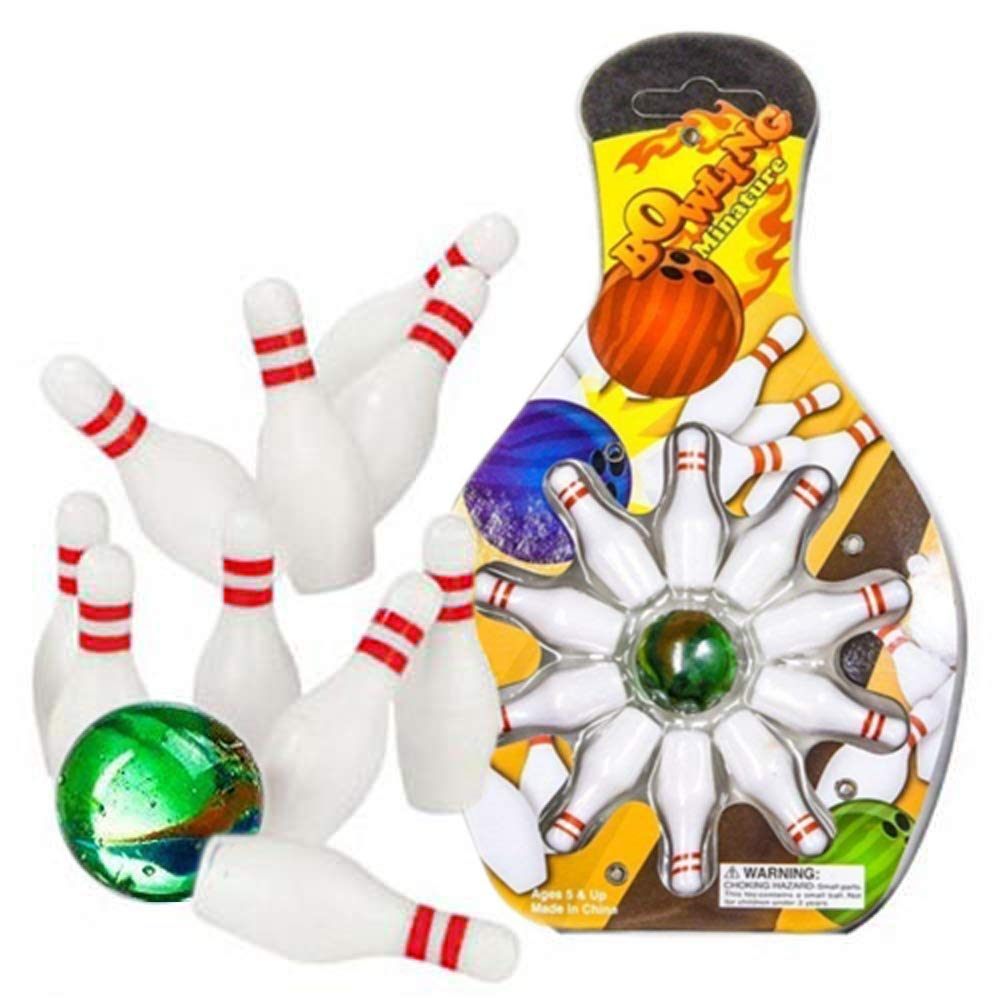 Mini Bowling Game Set – Pack of 6 Cool Mini Bowling Set for Kids – Toys & Games, Game Room Activity, Indoor Bowling – by Kidsco