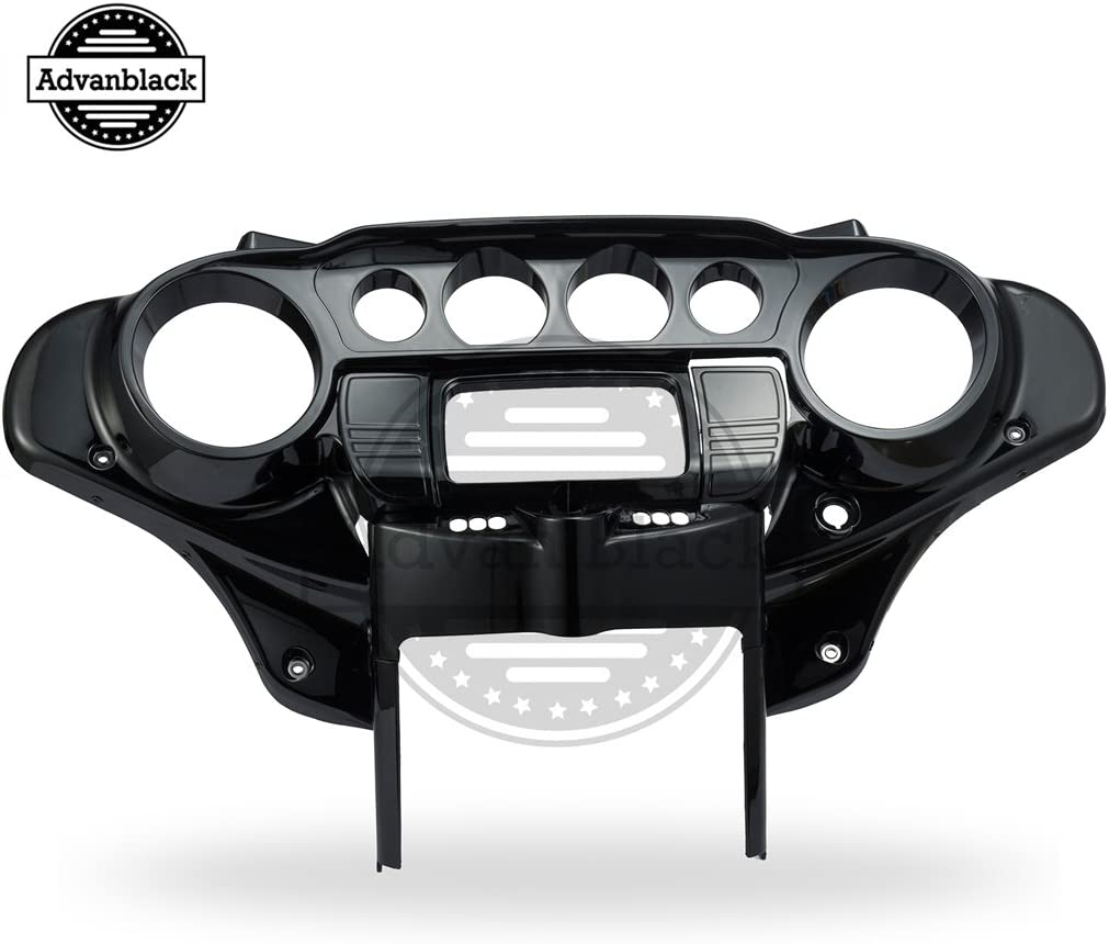 Vivid Black 2014 15 16 /& Up Outer and Inner Fairing Batwing for Harley Touring