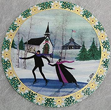 Image Unavailable. Image not available for. Color: 1994 P. Buckley Moss  Christmas Skaters Christmas Ornament ... - Amazon.com: 1994 P. Buckley Moss Christmas Skaters Christmas