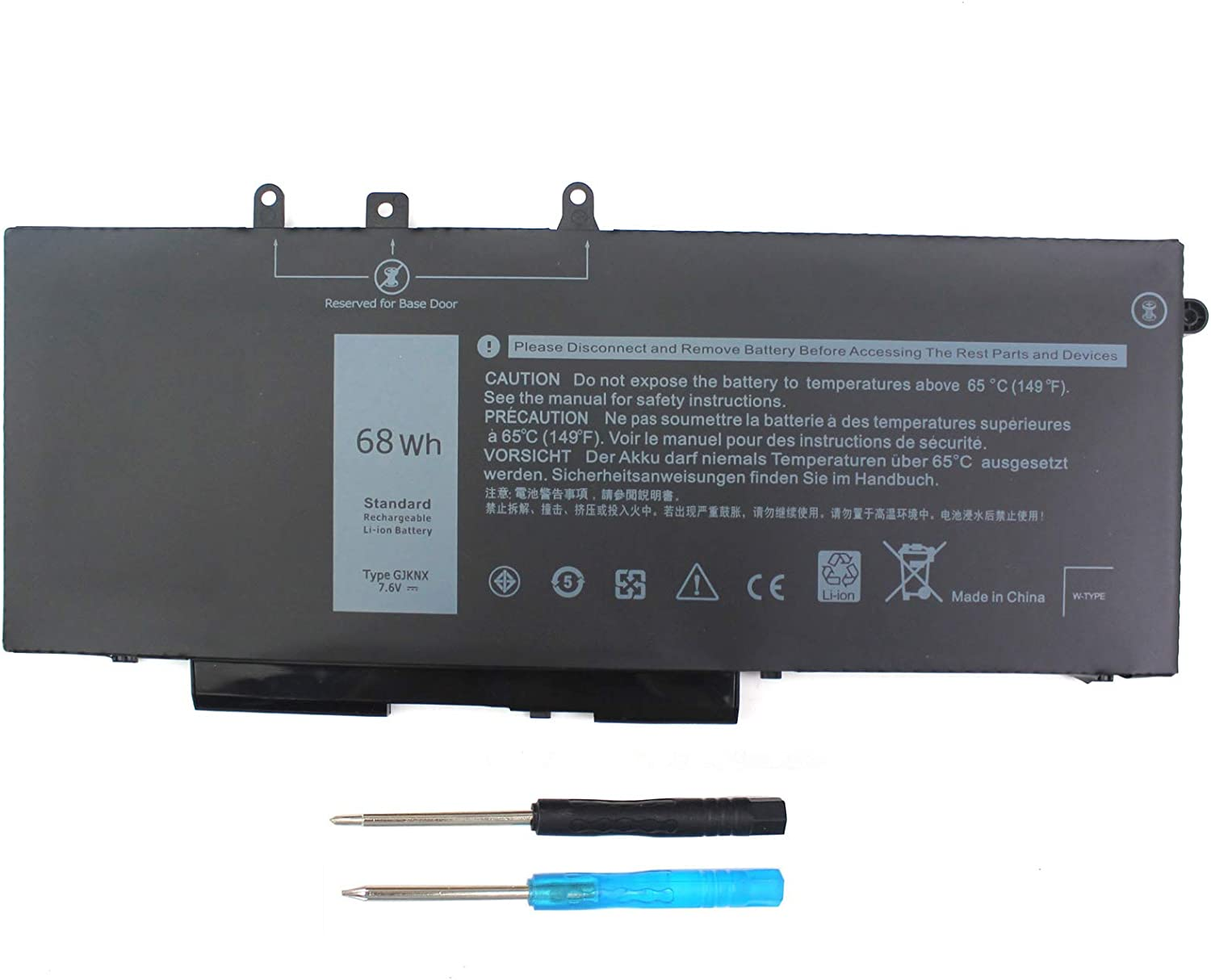 Angwel GJKNX Laptop Battery Compatible with Dell Latitude 5480 5580 5280 5490 5491 5580 5590 5591 E5480 E5580 E5590 E5490 Precision 15 3520 3530 M3520 GD1JP 0GD1JP DY9NT 0DY9NT[7.6V 68Wh]