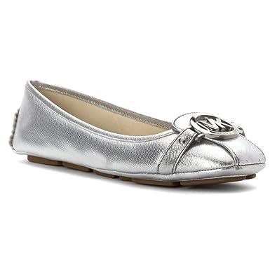 Michael Michael Kors Fulton Tipo Mocasín de la Mujer Plateado: Amazon.es: Zapatos y complementos