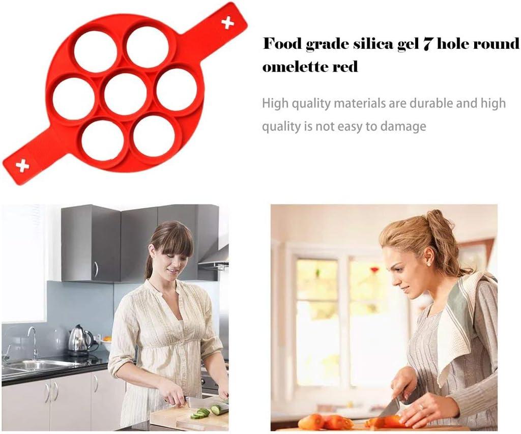 Formulauff Omelettform aus Silikon 7 Form f/ür Omelette mit Sieben L/öchern Kategorie essbar