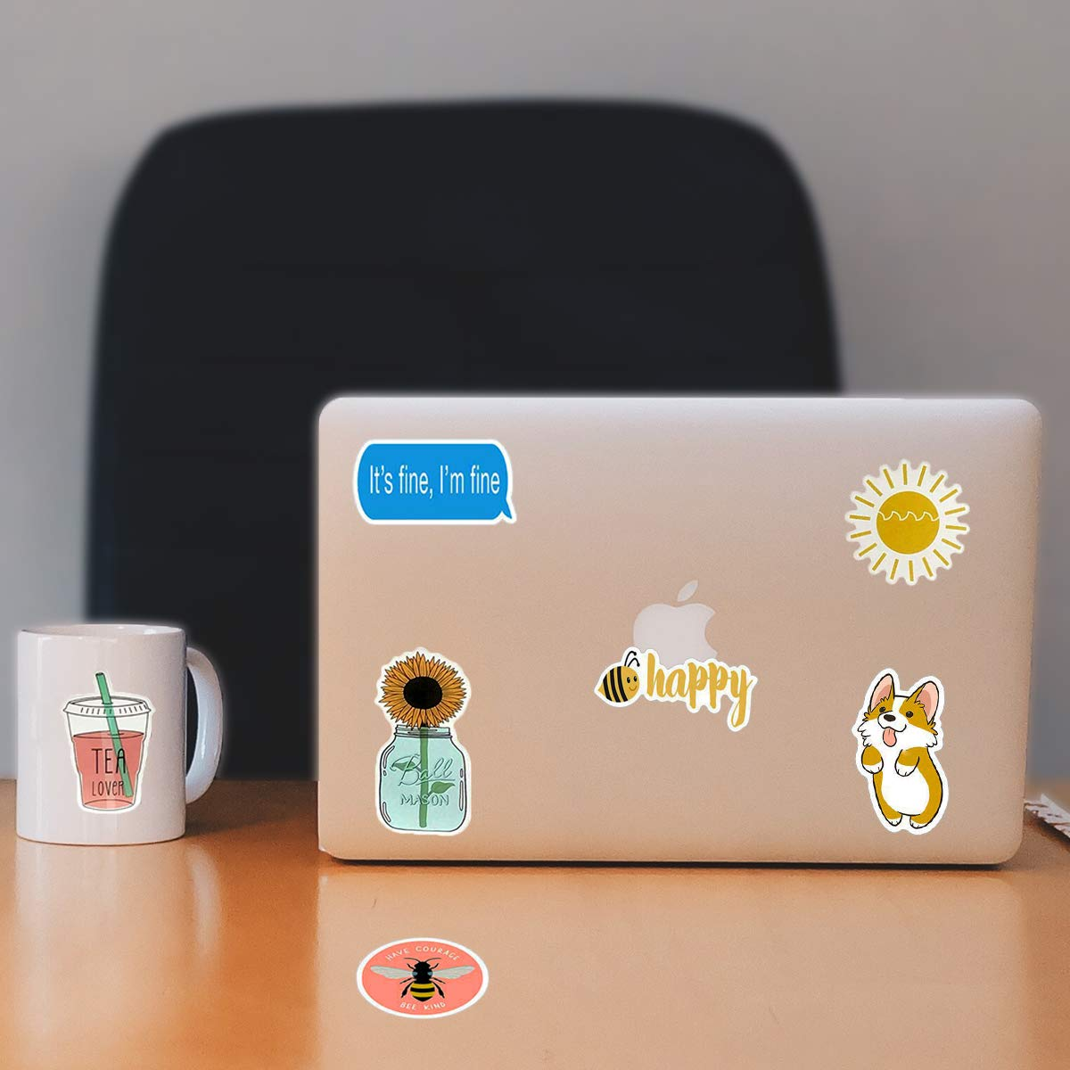 Cute VSCO Stickers for Hydro Flask Water Bottles, Trendy Laptop Stickers, Waterproof Vinyl Stickers for Girls Teens Kids (50 Pack)