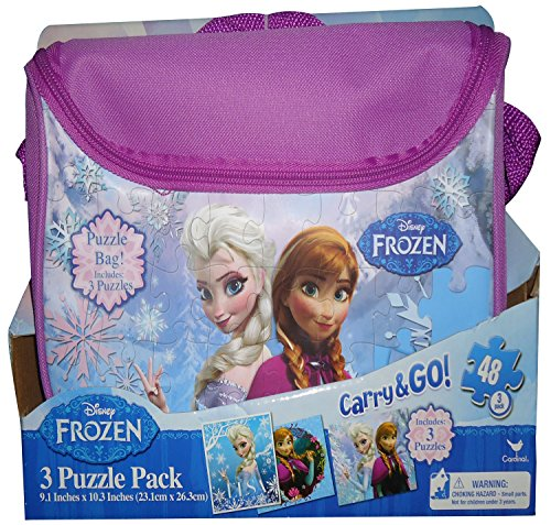 Frozen Carry and Go 3 Fashion Bag Puzzle (48-Piece) Styles Will (Frozen Bag)