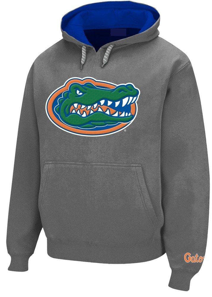 Elite Fan Shop Florida Gators Tackle Twill Hooded Sweatshirt Gray