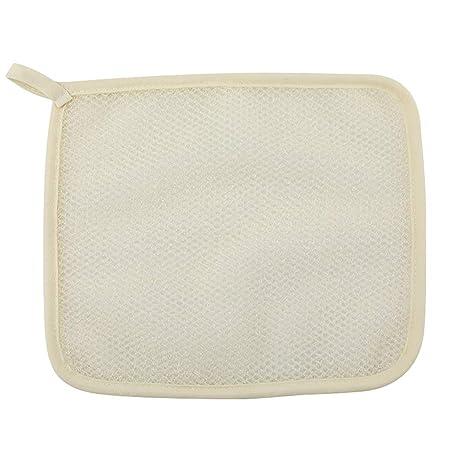 Frcolor 5 UNIDS Nylon de Doble Cara Toalla de Baño Exfoliante Cuadrado Scrub Towel Spa Baño