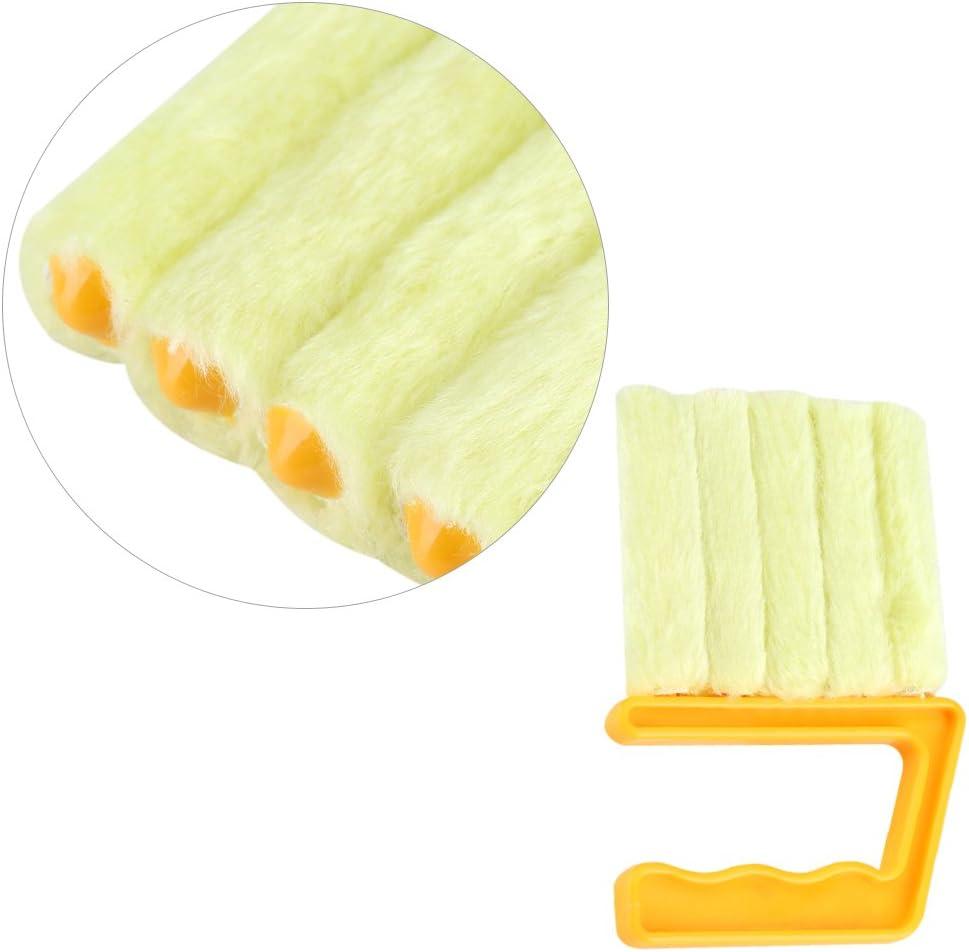 Cepillo de Microfibra Ventana Limpiador de Ventanas Coche F/ácil Limpiar para Hogar Persianas de Ventana Aire Acondicionado Ventilador Cepillo de Limpieza Naranja