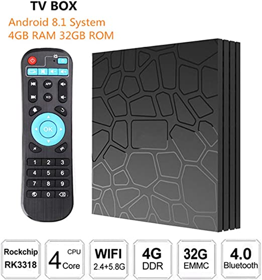 AXDNH Android TV Box, Smart Media Home Box Android 8.1OS 4 GB de RAM 32