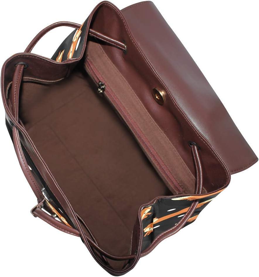 Fox Backpack PU Leather School Shoulder Bag Rucksack for Women Girls Ladies Backpack Travel Bag