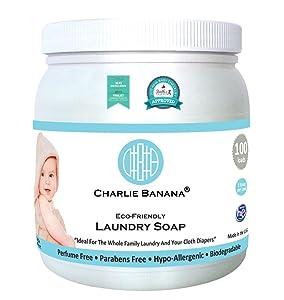 Charlie Banana Laundry Detergent - Fragrance Free - 2.64 lb