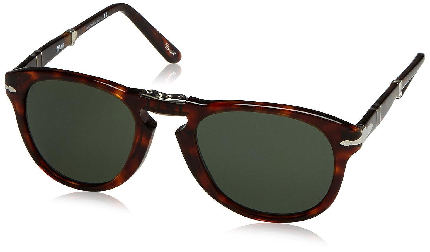 9d8ab0d516 Amazon.com  Persol Folding PO0714 Sunglasses-(24 31) Havana Crystal  Green-52mm  Persol  Shoes