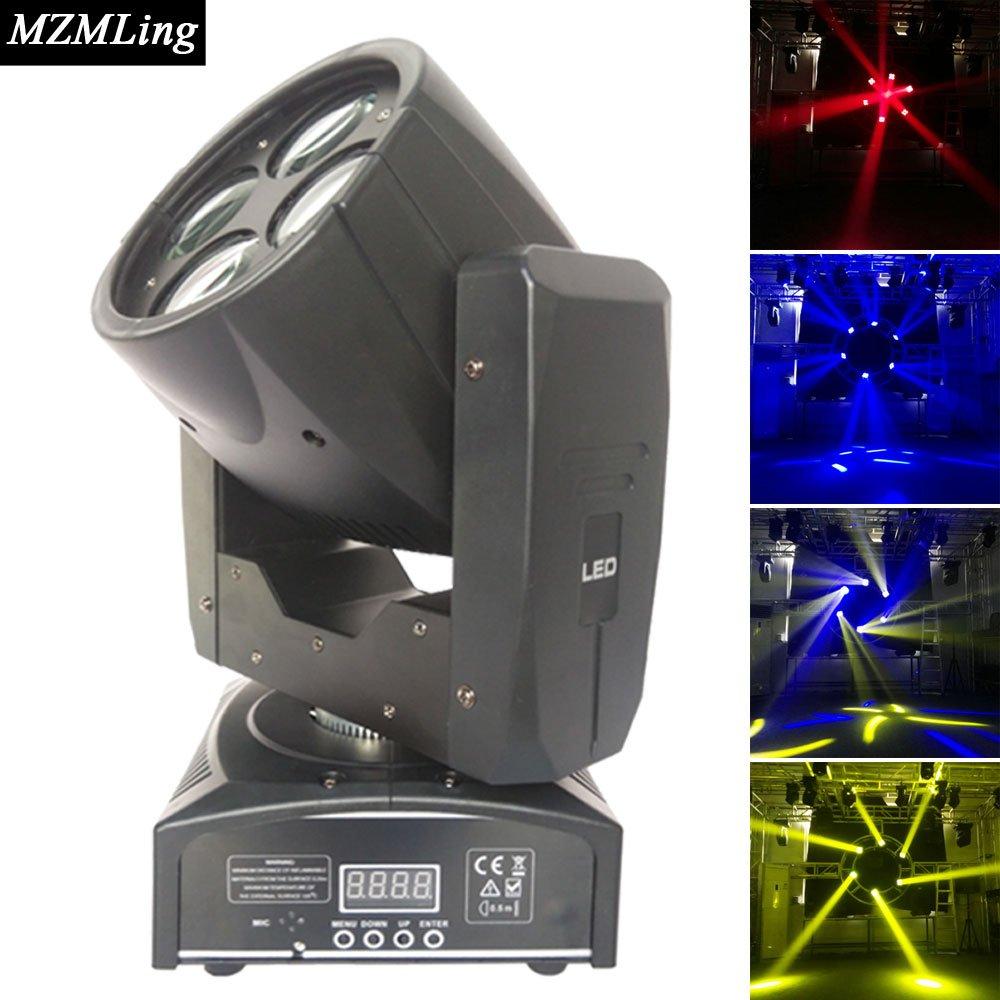 高電力4×10ミニビーム光4 16channelsとコントローラのled表示移動ヘッドライトdjウェディング&フェスティバルパフォーマンスのステージライトB019JX7ETS
