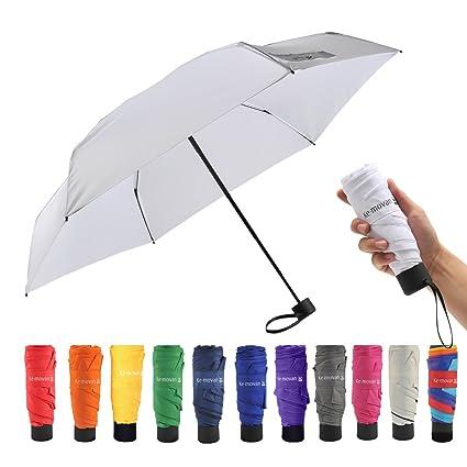 fa2887045ceb Ke.movan Travel Compact Umbrella Mini Sun & Rain Umbrella Ultra Light for  Carry On - Fits Men & Women, Gift Choice