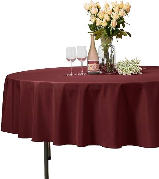 Round Circular Seamless Wedding Tablecloths Bridal Linen Top Table Cloth Cover