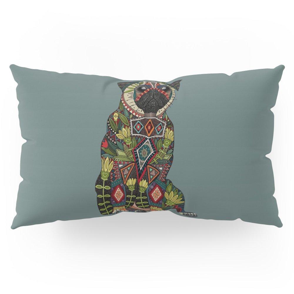 Society6 Pug Love Juniper Pillow Sham King (20'' x 36'') Set of 2